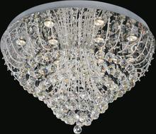Crystal World 5050C32C - 12 Light Chrome Flush Mount from our Fountain collection