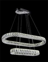 Crystal World 5628P34ST-2O - LED  Chandelier with Chrome finish