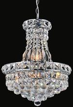 Crystal World 8002P12C - 4 Light  Mini Chandelier with Chrome finish