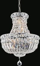 Crystal World 8003P12C - 4 Light  Mini Chandelier with Chrome finish