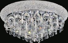 Crystal World 8040C26C - 12 Light Chrome Flush Mount from our Kingdom collection