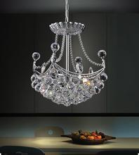 Crystal World 8041P10C-S - 4 Light  Mini Chandelier with Chrome finish