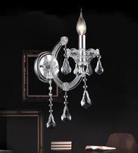 Crystal World 8318W5C-1 (Clear) - 1 Light Chrome Wall Light from our Maria Theresa collection