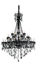 Crystal World 8393P53C-20+10+5 ( Black ) - 35 Light Up Chandelier with Chrome finish