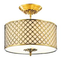 Crystal World 9835C16-3-605 - 3 Light Drum Shade Flush Mount with French Gold finish