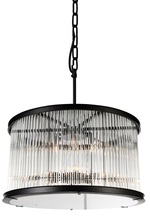 CWI Lighting 9861P32-12-101 - 12 Light  Chandelier with Black finish