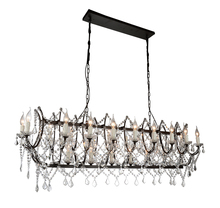 CWI Lighting 9910P49-21-200 - 21 Light Up Chandelier with Dark Brown finish