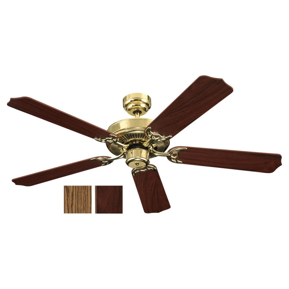 Robinson Lighting in Winnipeg , Manitoba, Canada,  LGQZ, Quality Max & Energy Star 52 Inch Ceiling Fan in Polished Brass Finish, Quality Max