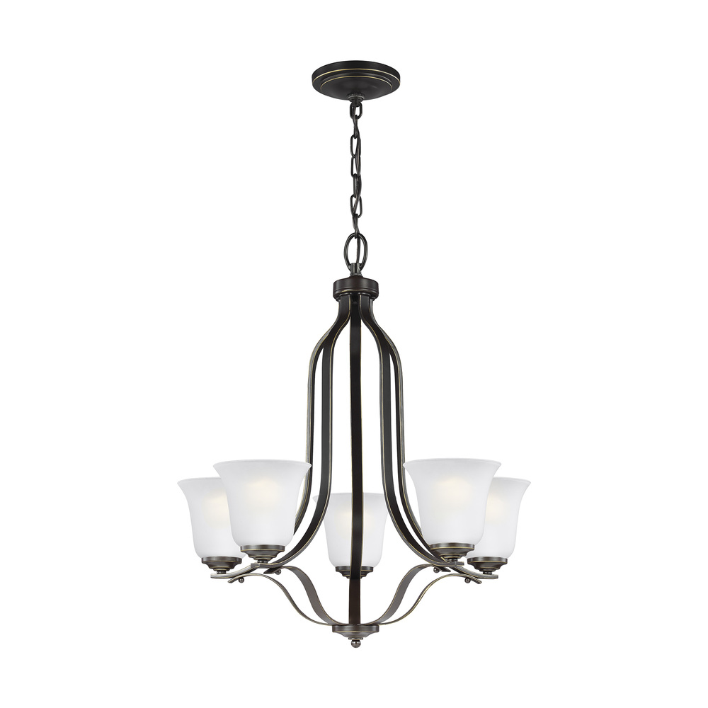 Robinson Lighting in Winnipeg , Manitoba, Canada,  9REPK, Five Light Chandelier, Emmons