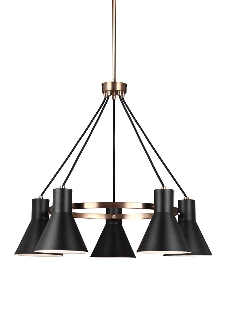 Robinson Lighting in Winnipeg , Manitoba, Canada,  9VFF2, Five Light Chandelier, Towner