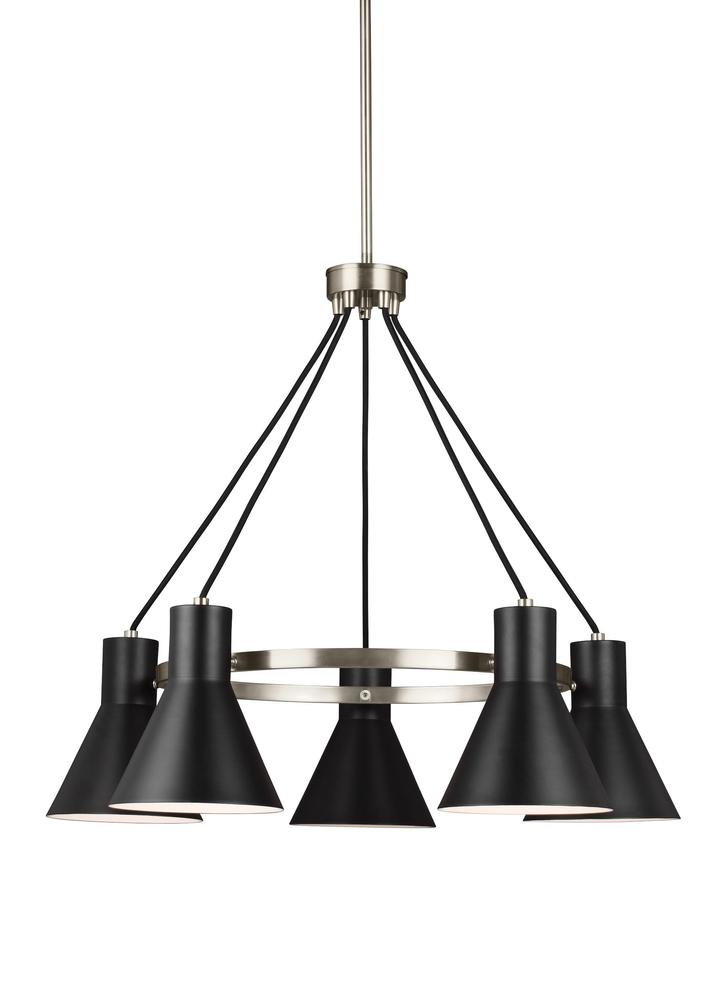 Robinson Lighting in Winnipeg , Manitoba, Canada,  9VFF3, Five Light Chandelier, Towner