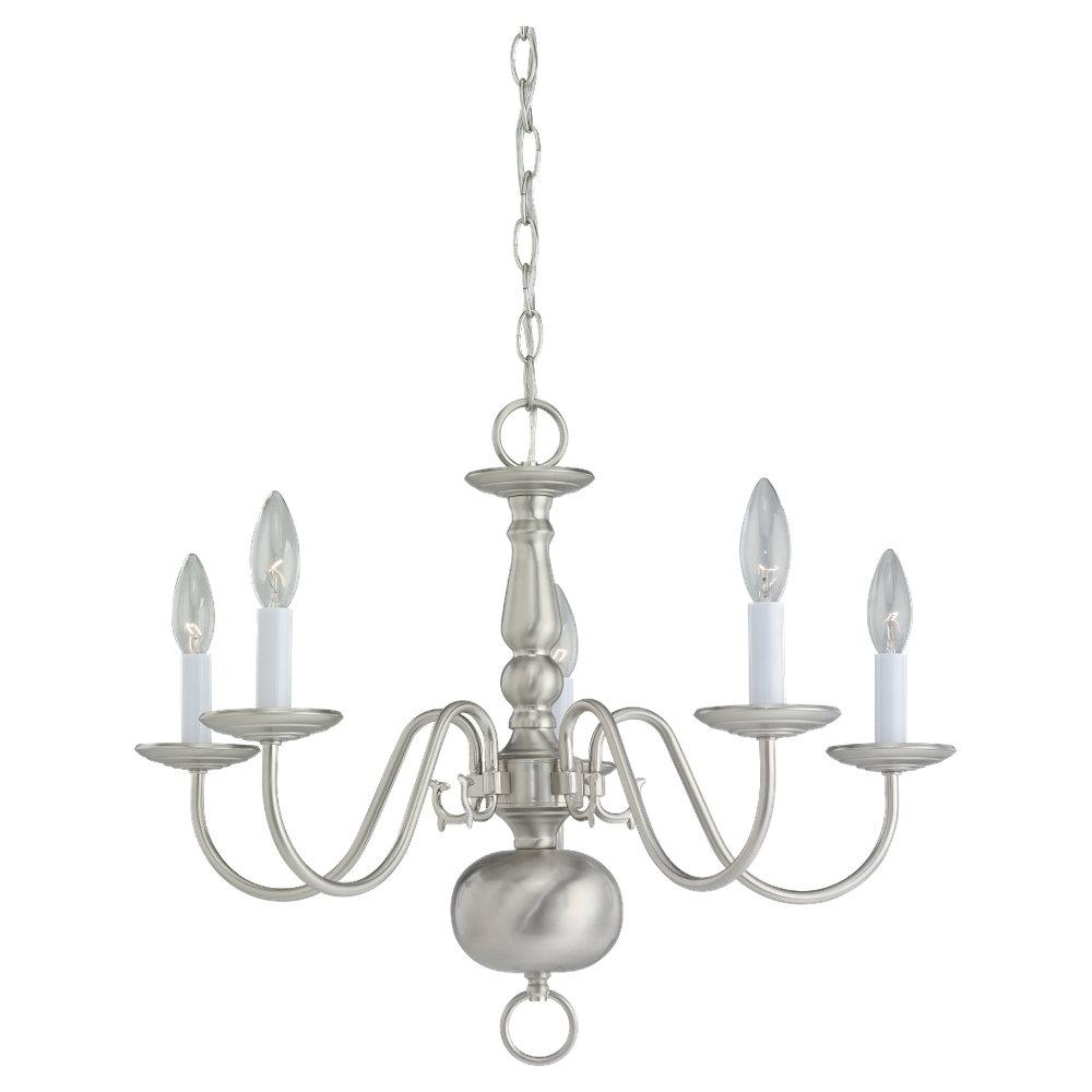 Robinson Lighting in Winnipeg , Manitoba, Canada,  4CC4, Five Light Chandelier, Traditional