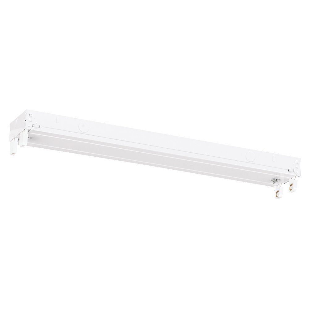 Robinson Lighting in Winnipeg , Manitoba, Canada,  TPYE, 2' Two Light Fluorescent Strip Light Ceiling/Wall Mount in White Finish, Fluorescent Ceiling