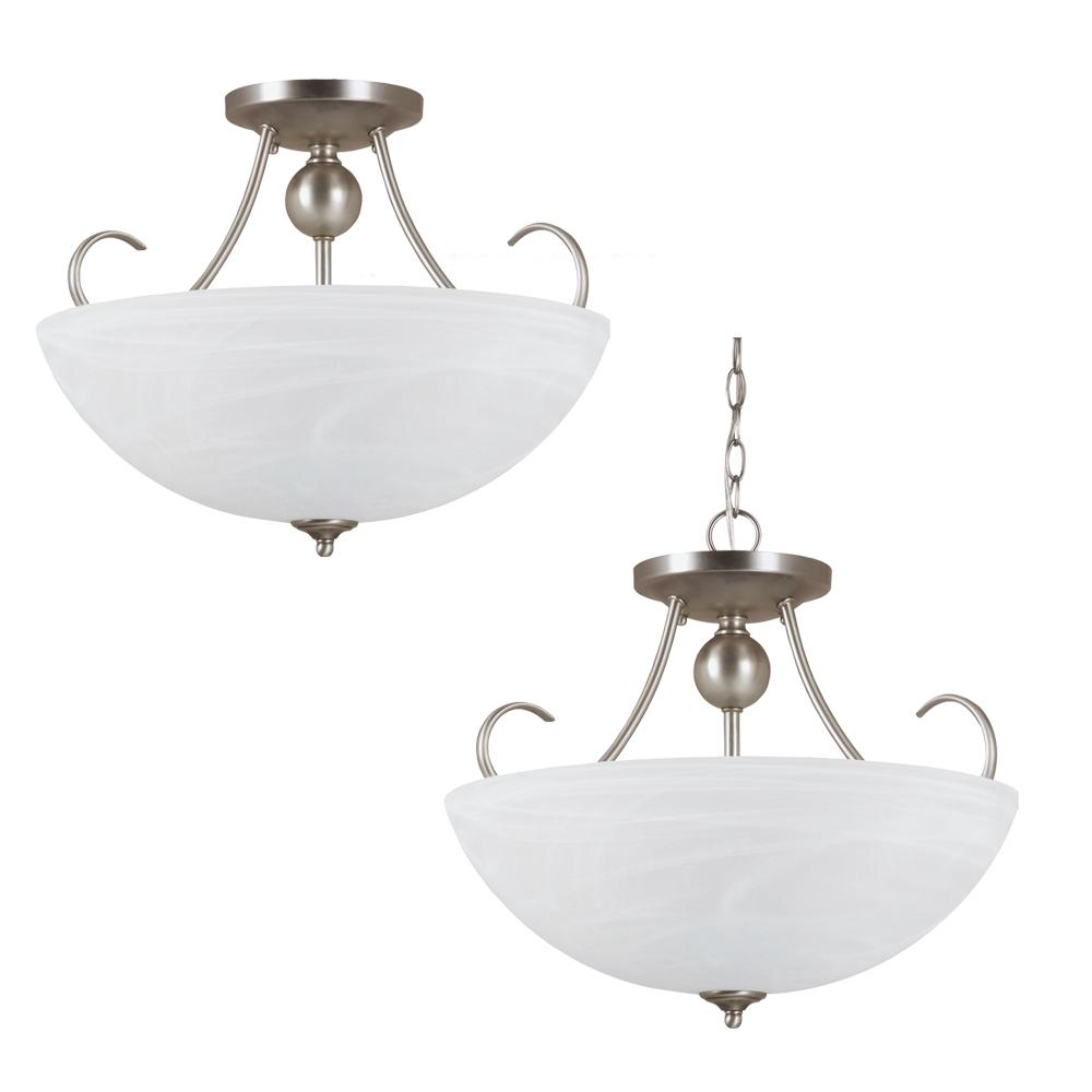Robinson Lighting in Winnipeg , Manitoba, Canada,  WNP5, Three Light Semi-Flush Convertible Pendant, Lemont