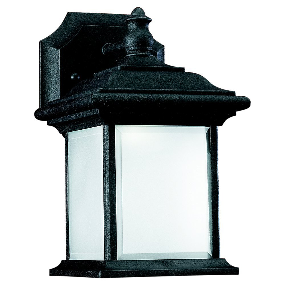 Robinson Lighting in Winnipeg , Manitoba, Canada,  TRXK, Fluorescent One Light Outdoor Wall Lantern in Black Finish, Wynfield