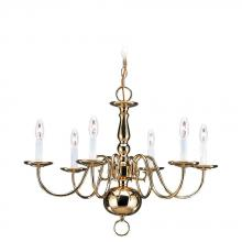 Sea Gull 3411-02 - Six Light Chandelier