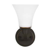 Sea Gull 4113201BLE-715 - Fluorescent Metcalf One Light Wall / Bath Sconce in Autumn Bronze with Satin Etched Glass