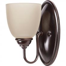 Sea Gull 44316BLE-710 - Fluorescent Lemont One Light Wall/Bath Sconce in Burnt Sienna with Cafe Tint Glass