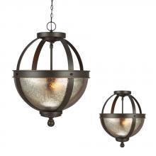 Sea Gull 7710402-715 - Two Light Semi-Flush Convertible Pendant