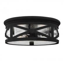 Sea Gull 7821402-12 - Two Light Outdoor Ceiling Flush Mount
