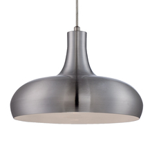 Eurofase Online 25687-019 - Una Formed Metal Light Pendant, Aluminum and Textured White Shade, Aluminum Finish, 1 A19 Light Bulb
