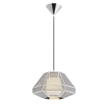 Eurofase Online 30016-019 - Recinto 1-Light Large Pendant, Chrome Finish