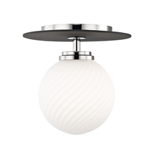 Hudson Valley H200501S-PN/BK - 1 Light Small Flush Mount