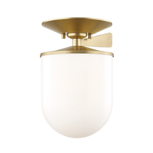 Hudson Valley H214601L-AGB - 1 Light Large Semi Flush