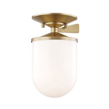 Hudson Valley H214601S-AGB - 1 Light Small Semi Flush