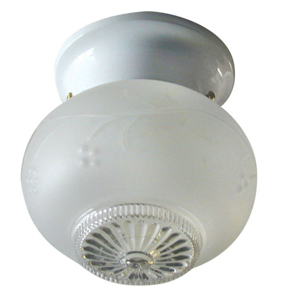 Robinson Lighting in Winnipeg , Manitoba, Canada,  62EK9, Ceiling, ICL12 WH, 1 Light, Frosted Glass, 60W Type A,