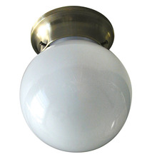 "Canarm ICL901 - Ceiling, ICL9 AB, 6"" Round Globe, White Opal Glass, 60W Type A"