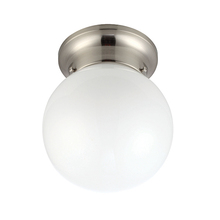 "Canarm ICL9BN - ICL9BN, 1 Lt Ceiling/Wall, Opal Glass, 60W Type A19, 6"" x 7 1/4"""