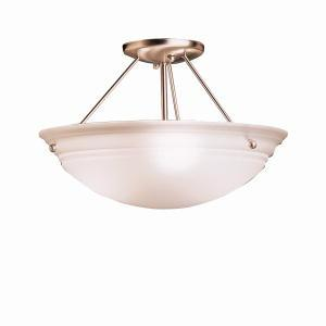 Robinson Lighting in Winnipeg , Manitoba, Canada,  T1MNA, Semi Flush 3Lt, Cove Molding Top Glass