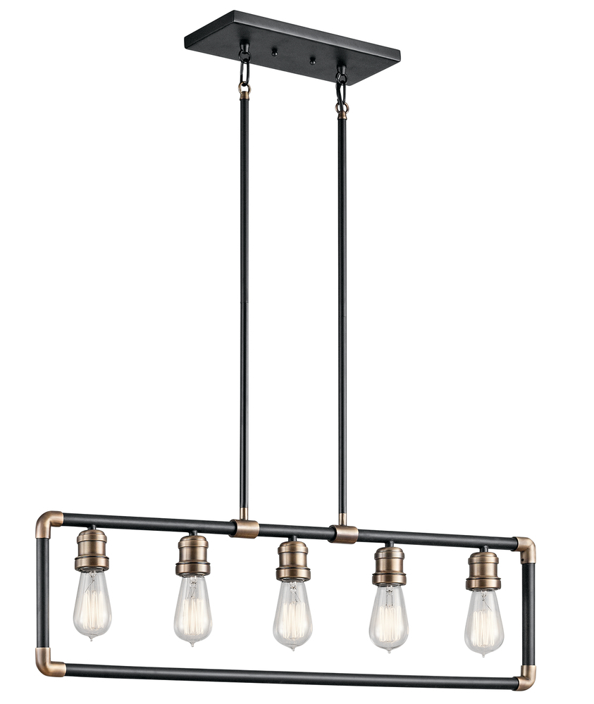 Robinson Lighting in Winnipeg , Manitoba, Canada,  TQ08C, Linear Chandelier 5Lt, Imahn