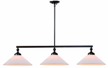 Kenroy Home 93248ORB - Conical 3 Light Island GS SH