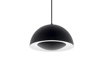 Robinson Lighting in Winnipeg , Manitoba, Canada,  6XGUV, Single Lamp LED Pendant with Black Dome Shade,