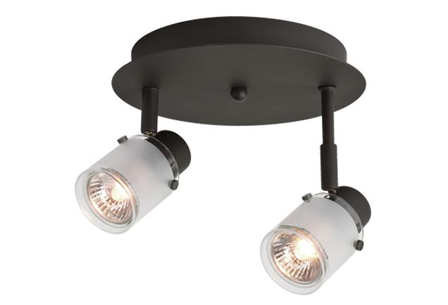 Robinson Lighting in Winnipeg , Manitoba, Canada,  6UK4V, Two Lamp Monopoint with Frosted Glass,