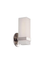 Kuzco Lighting Inc WS8809-BN - Bratto - Wall Sconce Square Shaped White Opal Glass