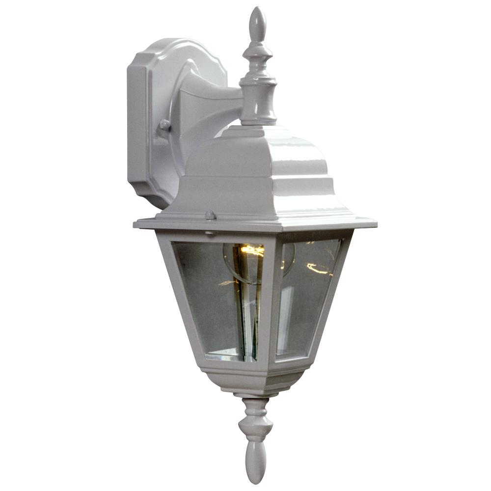 Robinson Lighting in Winnipeg , Manitoba, Canada,  6UFCD, Outdoor Cast Aluminum Lantern - White W/ Clear Beveled Glass,