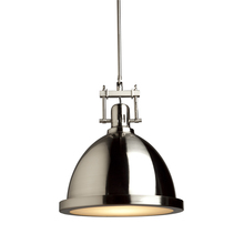 Steven & Chris SC290PN - Broadview 1 Light SC290PN Polished Nickel Pendant