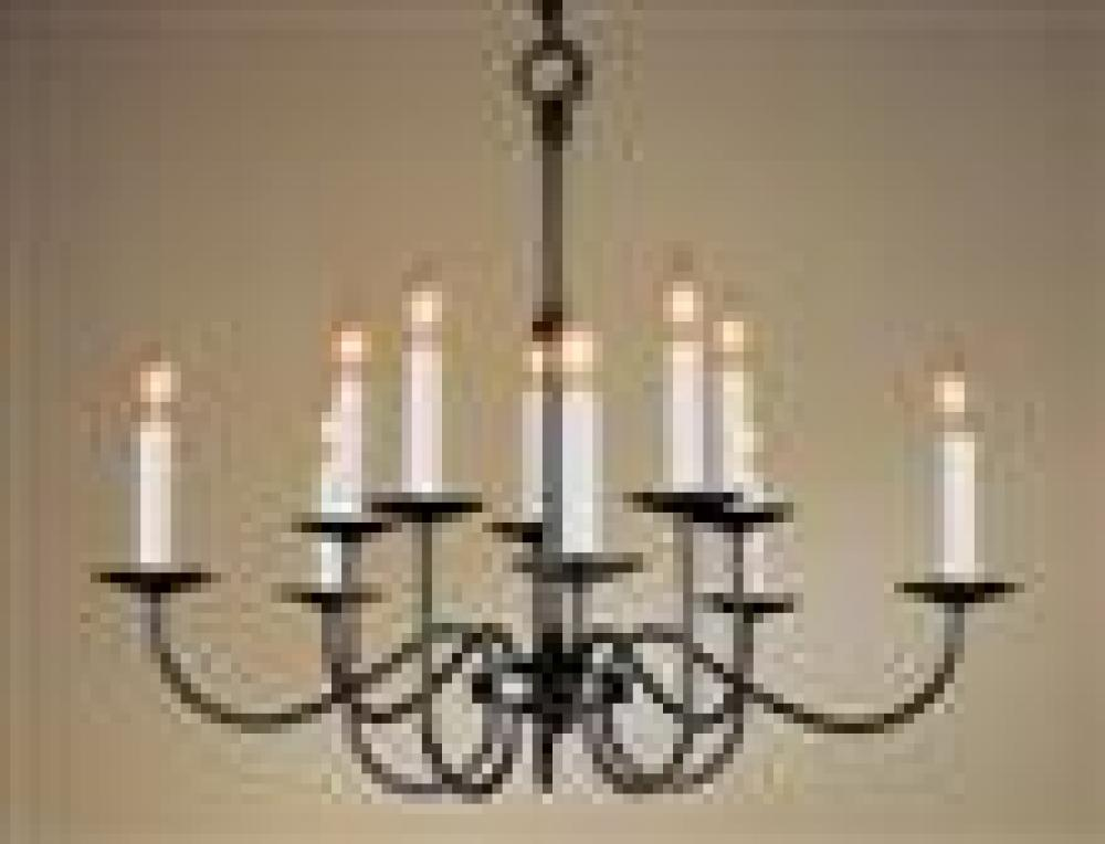 Robinson Lighting in Winnipeg , Manitoba, Canada,  6UTRV, Simple Lines 10 Arm Chandelier,