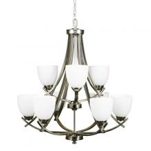 Russell Lighting 118-709/BCH - 9 light two tier chandelier