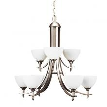 Russell Lighting 189-709/BCH - 9 light two tier chandelier