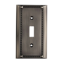 ELK Lighting 2501AP - Clickplates Single Switch Plate In Antique Plati