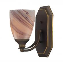 ELK Lighting 570-1B-CR - Bath And Spa 1 Light Vanity In Aged Bronze And C