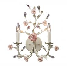 ELK Lighting 8090/2 - Heritage 2 Light Wall Sconce In Cream With Pink