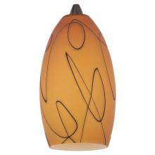 Generation Lighting - Seagull 94374-6137 - Fossil Amber Pendant Glass