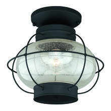 "Vaxcel International T0144 - Chatham 13"" Outdoor Semi-Flush Mount Textured Black"