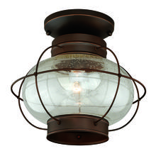 "Vaxcel International T0145 - Chatham 13"" Outdoor Semi-Flush Mount Burnished Bronze"