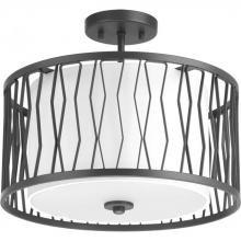 "Progress P350027-143 - Wemberly Collection Three-Light 16"" Semi-Flush"